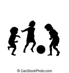 Kinder-Fußball-Vektor.