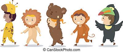 Kinder in Tierkostümen