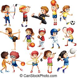 kinder, sport, spielende