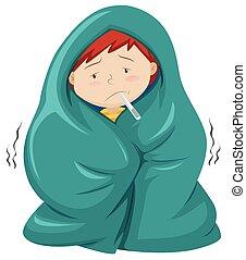 Kinder unter Deck haben Fieber.