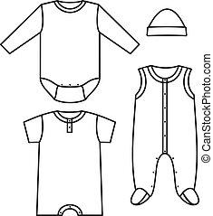 Kinderkleidung. Vektor Illustration
