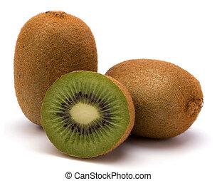 Kiwi-Frucht aus weißem Hintergrund isoliert