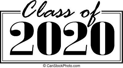 Klasse von 2020 Banner geboxt.