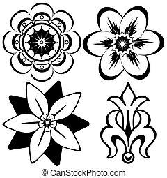 Klassische Blumendekorationselemente für Design (Vektor)