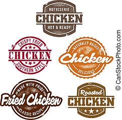 Klassische Hühnermarken