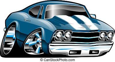 Klassischer amerikanischer Muskelwagen-Cartoon