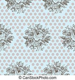 Klassisches florales, nahtloses Muster