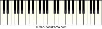 Klavier Tastatur lang