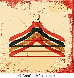 Kleiderbügel-Retro-Poster