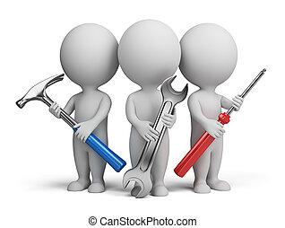 klein, -, 3d, repairers, leute