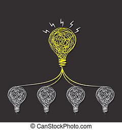 Kleine Idee machen große Idee concpet.