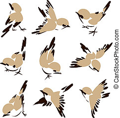 Kleine Vogel-Illustration