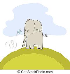 Kleiner süßer Elefant.