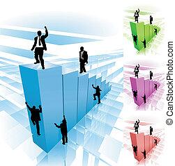 Kletter-Geschäftskonzept-Illustration