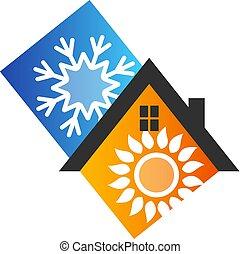 Klimaanlage Symbol Design.