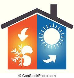 Klimaanlage Symbol-Logo.