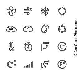Klimaanlagen-Ikonen