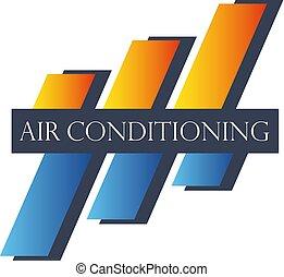 Klimaanlagensymbol abstrakt.