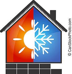 Klimaanlagensymbol.