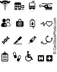klinikum, medizin, ikone, sammlung, internet