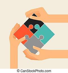 Koaborative Leute entwerfen.
