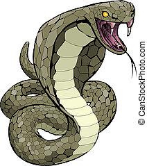 Kobra-Schlange, die Illustration beginnt