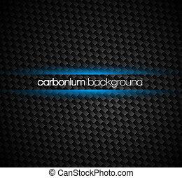 Kohlenstofffaser-Hintergrund mit dunklen Tönen und blauem Lichtstrahl-Effekt um Ihren Text herum.