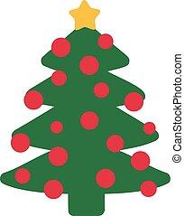 Komischer Weihnachtsbaum mit Eiern.