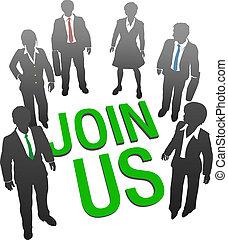 Kommen Sie zu uns Business-Unternehmen Personal.