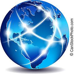 Kommunikation weltweiter Handel