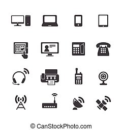 Kommunikationsgeräte-Icons.
