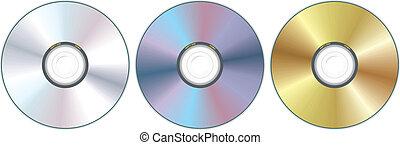 kompakte cd, drei