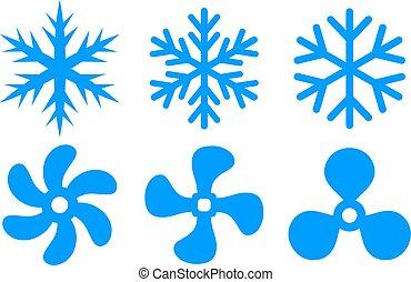 konditionieren, abkühlen, ikone, symbol, luft, fächer