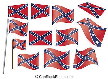 Konföderierte Flagge.