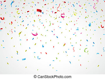 konfetti, bunte, weißes