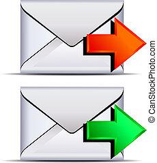 Kontaktieren Sie E-Mail, senden Sie Icon
