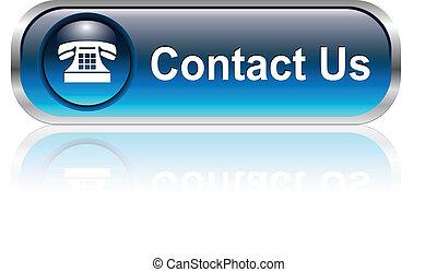 Kontaktieren Sie uns Icon, Knopf
