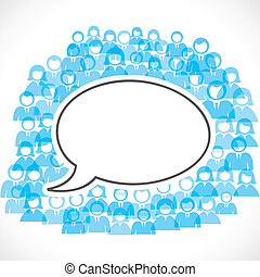 Konzept der Kommunikation b/w Menschen.
