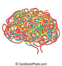 Konzept des menschlichen Gehirns, Vektor.