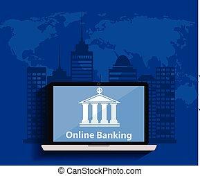 Konzept für mobiles Banking und Online-Zahlung