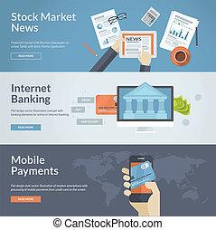 Konzept für Online-Zahlung und News