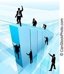 Konzeption Business Leute Silhouetten Erfolg