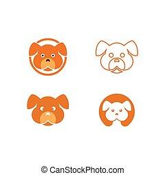 kopf, hund, logo
