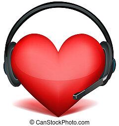 Kopfhörer mit Herz