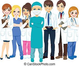 Krankenhausarzt.