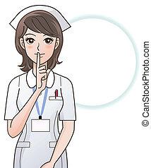 krankenschwester, fragen, junger, ruhe