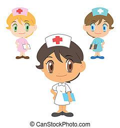 krankenschwester, zeichen