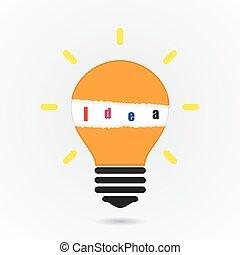Kreative Glühbirnen Idee Konzept Hintergrund