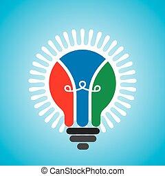 Kreative Idee Glühbirne.