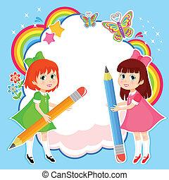 Kreative Mädchen